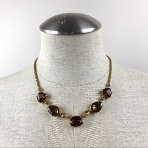 Faceted Teardrop Stones Necklace